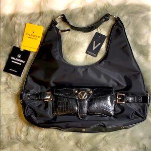 Mario Valentino nylon shoulder bag